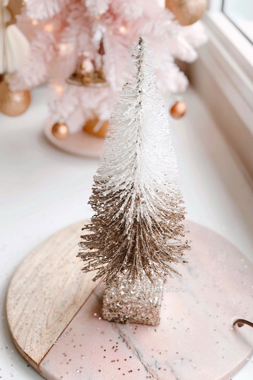 2 Tone Glittered Christmas Tree Standing Decoration