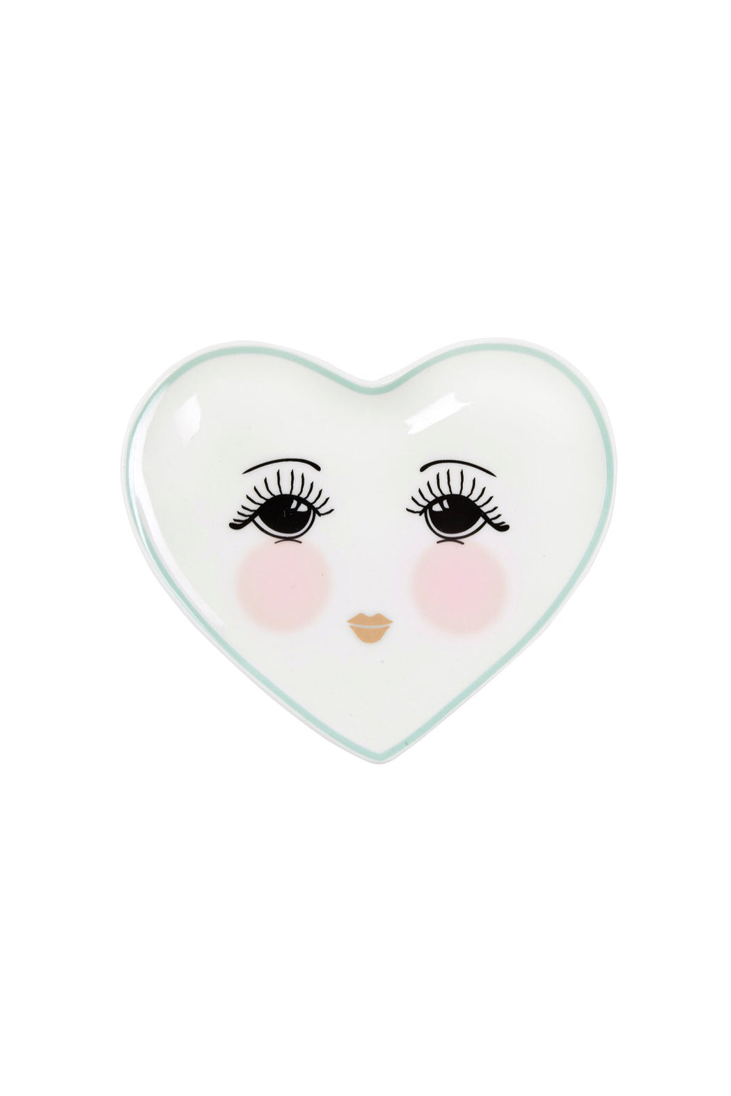 Candy Pretty Open Eyes Heart Shaped Plate