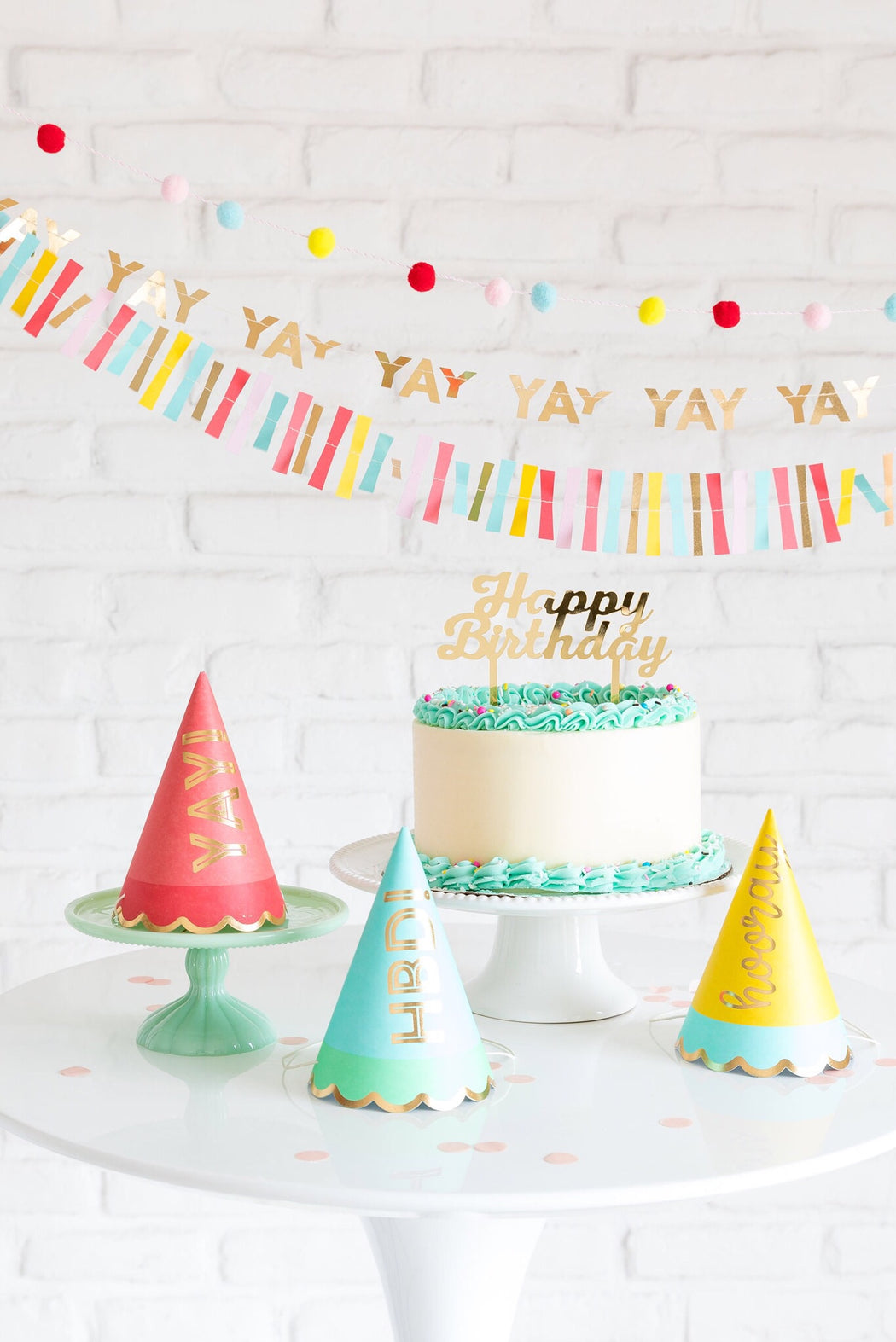 Hip Hip Hooray Party Hats, Partyware, My Mind's Eye - 3LittlePicks