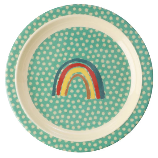 Rainbow and Star Kids Lunch Plate, Utensils, RICE - 3LittlePicks