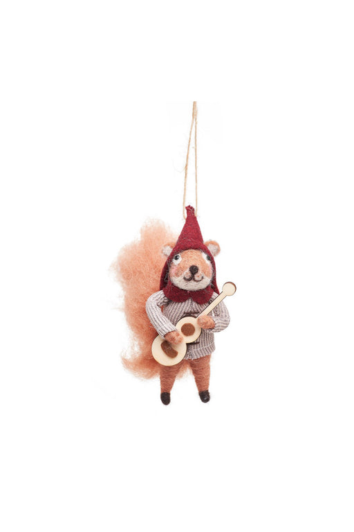 Carolling Fox & Squirrel Felt Decorations