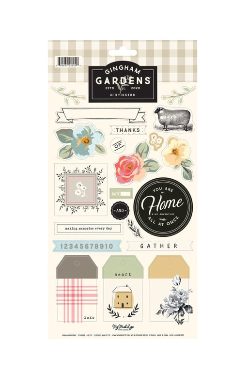 Gingham Garden Sticker Sheet