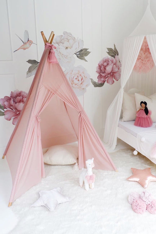 Dusty Pink Sheer Teepee, Decor, Spinkie - 3LittlePicks