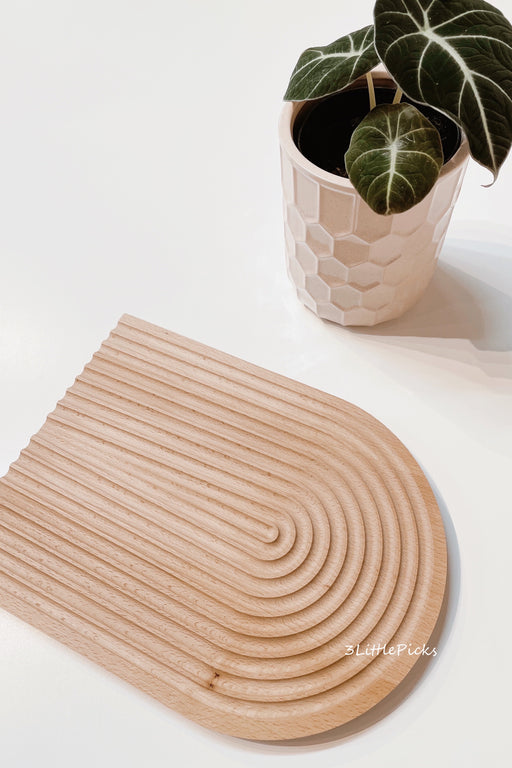 PRE-ORDER: Grooved Arch Beech Board