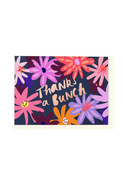 Thanks A Bunch Floral Card, Stationary, Blushing Confetti - 3LittlePicks
