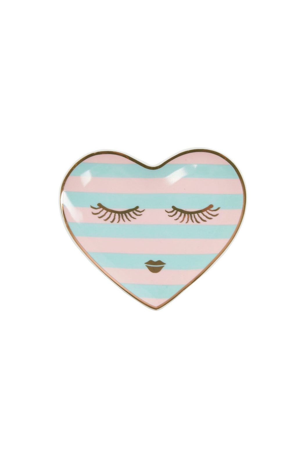 Candy Pretty Closed Eyes Heart Shaped Plate