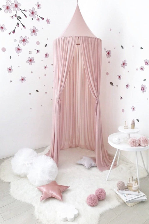 Dusty Pink Sheer Canopy, Decor, Spinkie - 3LittlePicks