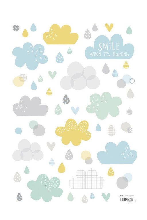 Clouds and Rain Vinyl Decal, Decor, Lilipinso - 3LittlePicks