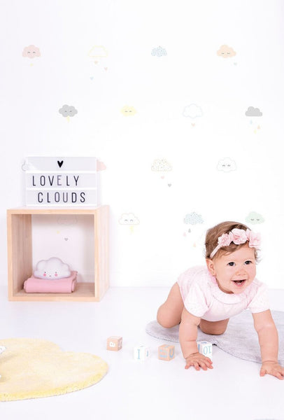 Smiley Clouds Vinyl Decal