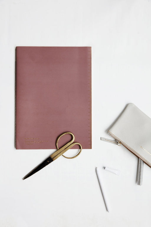 Soft Burgundy Notebook, Stationery, Monograph - 3LittlePicks
