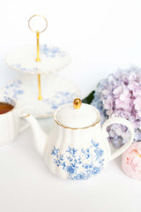 Blue Peonies Teapot, Drinkware, 3littlepicks - 3LittlePicks