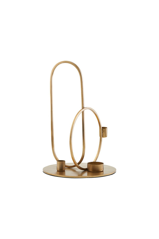 Cirque Brass Finish Candle stand, Decor, House Doctor - 3LittlePicks