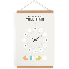 Tell Time, Decor, Squared Charts - 3LittlePicks