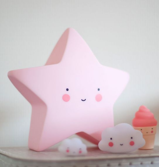 Little Star Light Pink, Lighting, A Little Lovely Company - 3LittlePicks