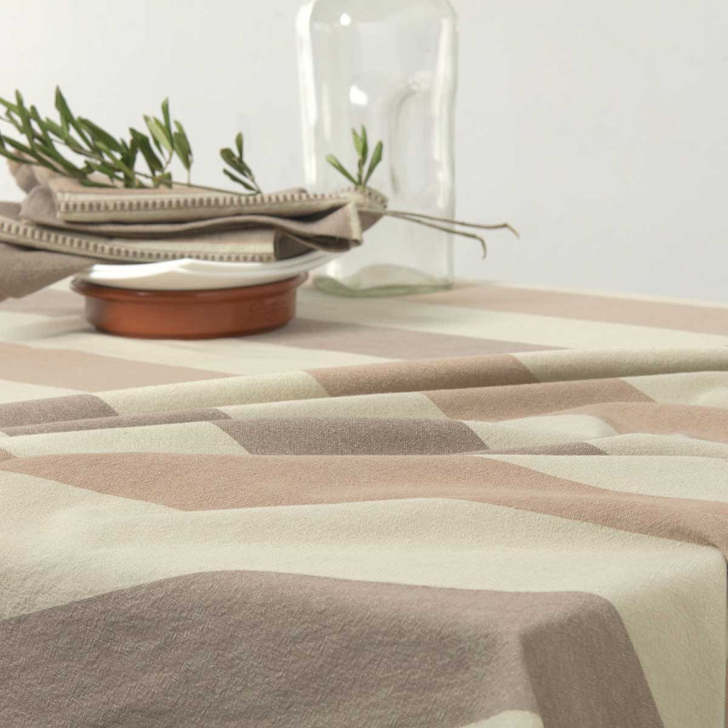 Earthy Stripe Table Cloth