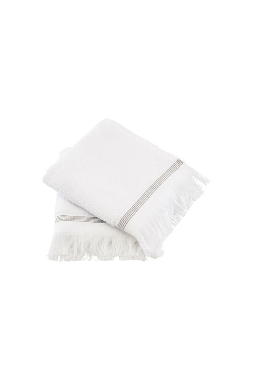 Grey Stripes Hand Towels, Lifestyle, Meraki - 3LittlePicks