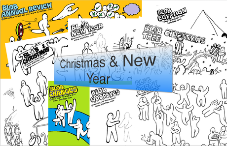 Christmas And New Year Blob Collection