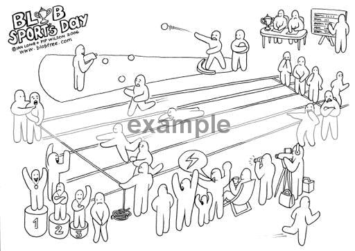 running a race coloring pages - photo#34
