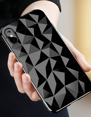 3D Diamond Pattern iPhone Case for iPhone X 7/8 7/8 Plus