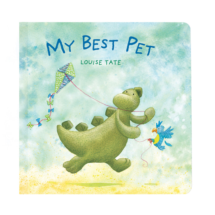 My Best Pet - Bashful Dinosaur Book - Jellycat