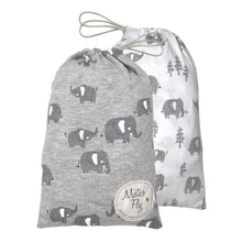 Load image into Gallery viewer, Bassinet Sheets - Elephant - Twin Pack - Mister Fly