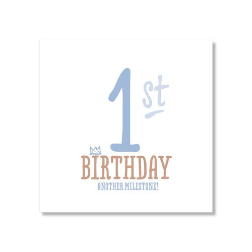 1st Birthday Card - Blue