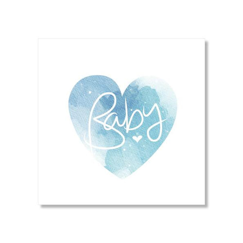 Baby Card - Marble Heart - Blue