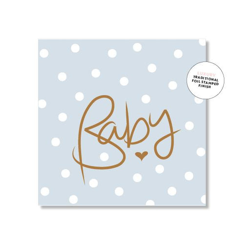 Baby Card - Polkadot Blue