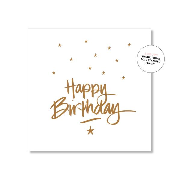 Happy Birthday Card - Script