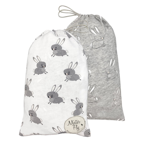 Bassinet Sheets - Floating Bunny - Twin Pack - Mister Fly