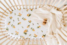 Load image into Gallery viewer, Bassinet Sheet / Change Pad Cover - Lemon