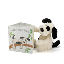 Load image into Gallery viewer, Bundle - Puppy Makes Mischief Book and Bashful Puppy - Jellycat