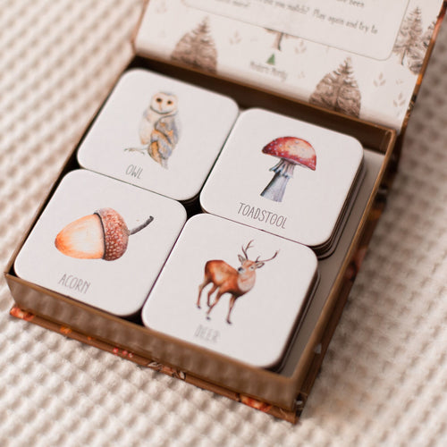 Woodland Memory Card Game - Modern Monty