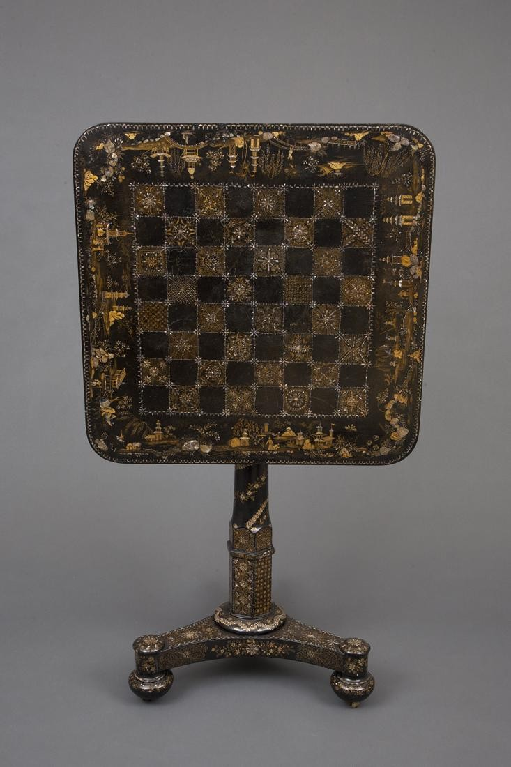 Papier Mache Chess Table