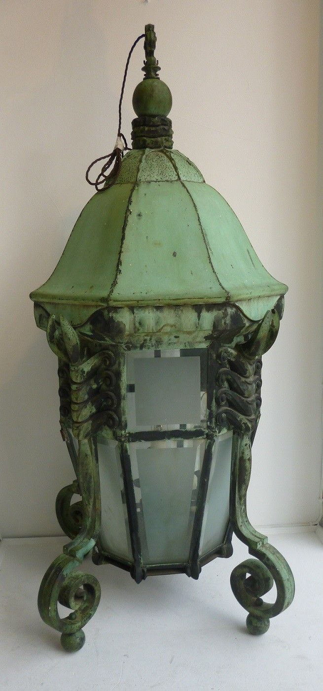 A Large Art Deco Lobster Lantern