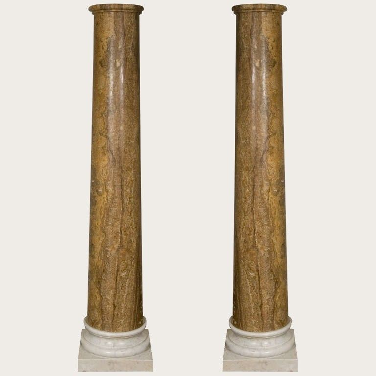 Pair of Grand Tour Marble Columns