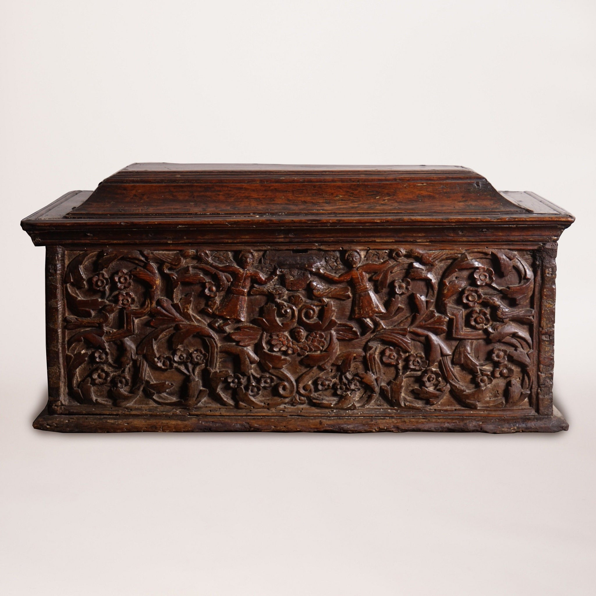 Carved Walnut Chest