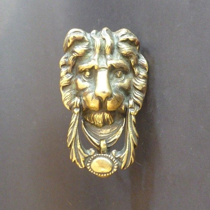 Self-striking Lion Mask Door Knocker (2793)