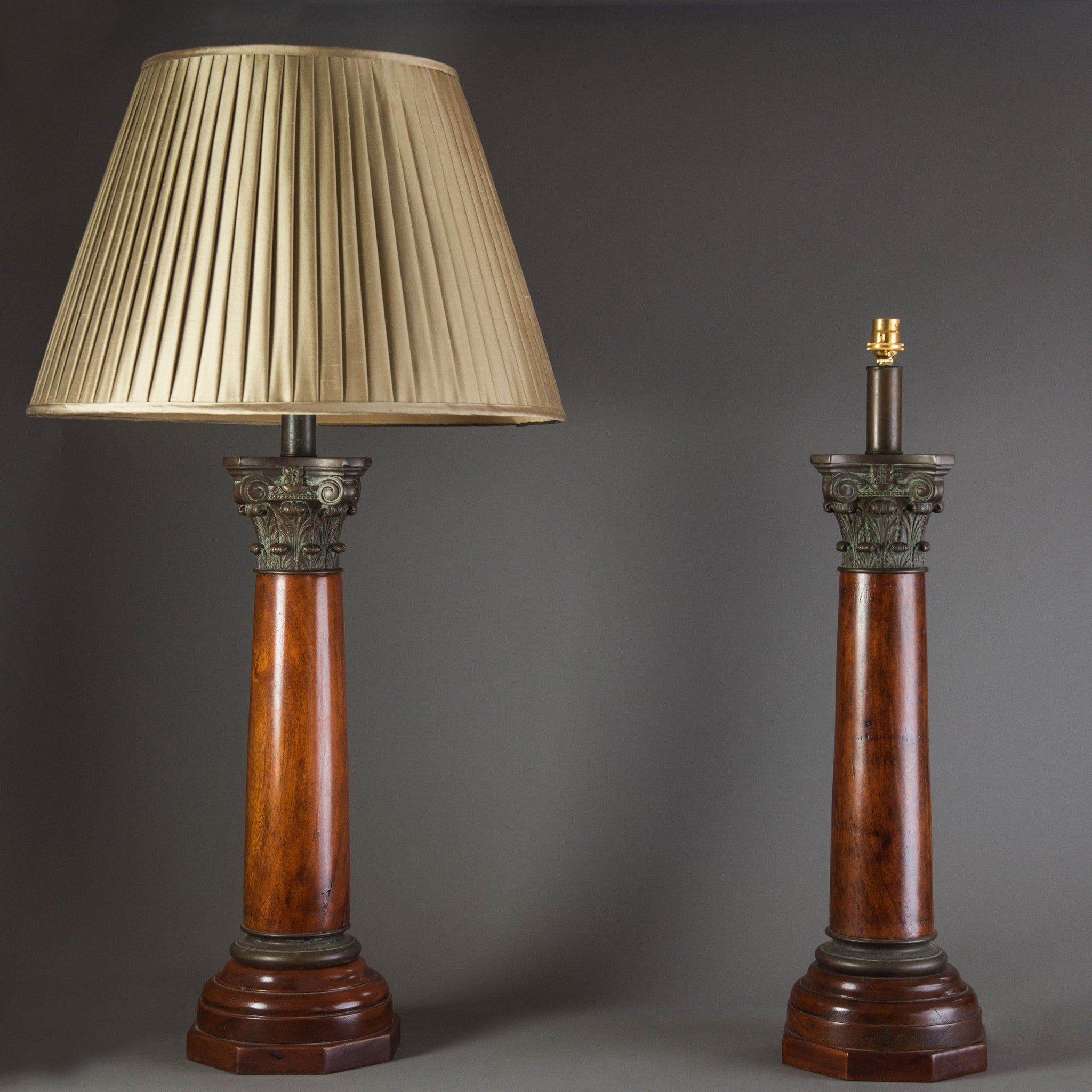 Pair of Corinthian Column Lamps