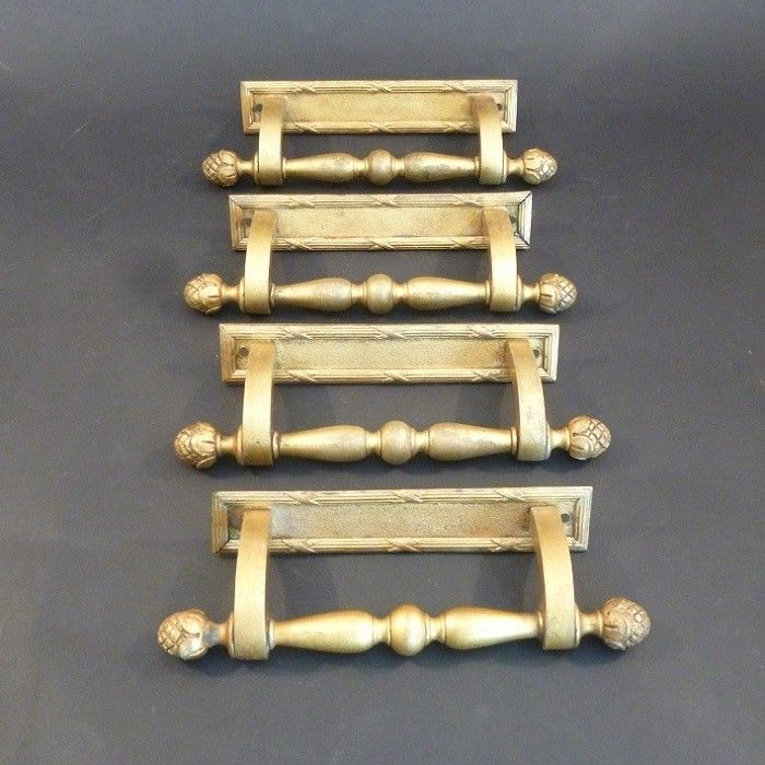 Set of 4 gilt-brass Door Pulls (2962)