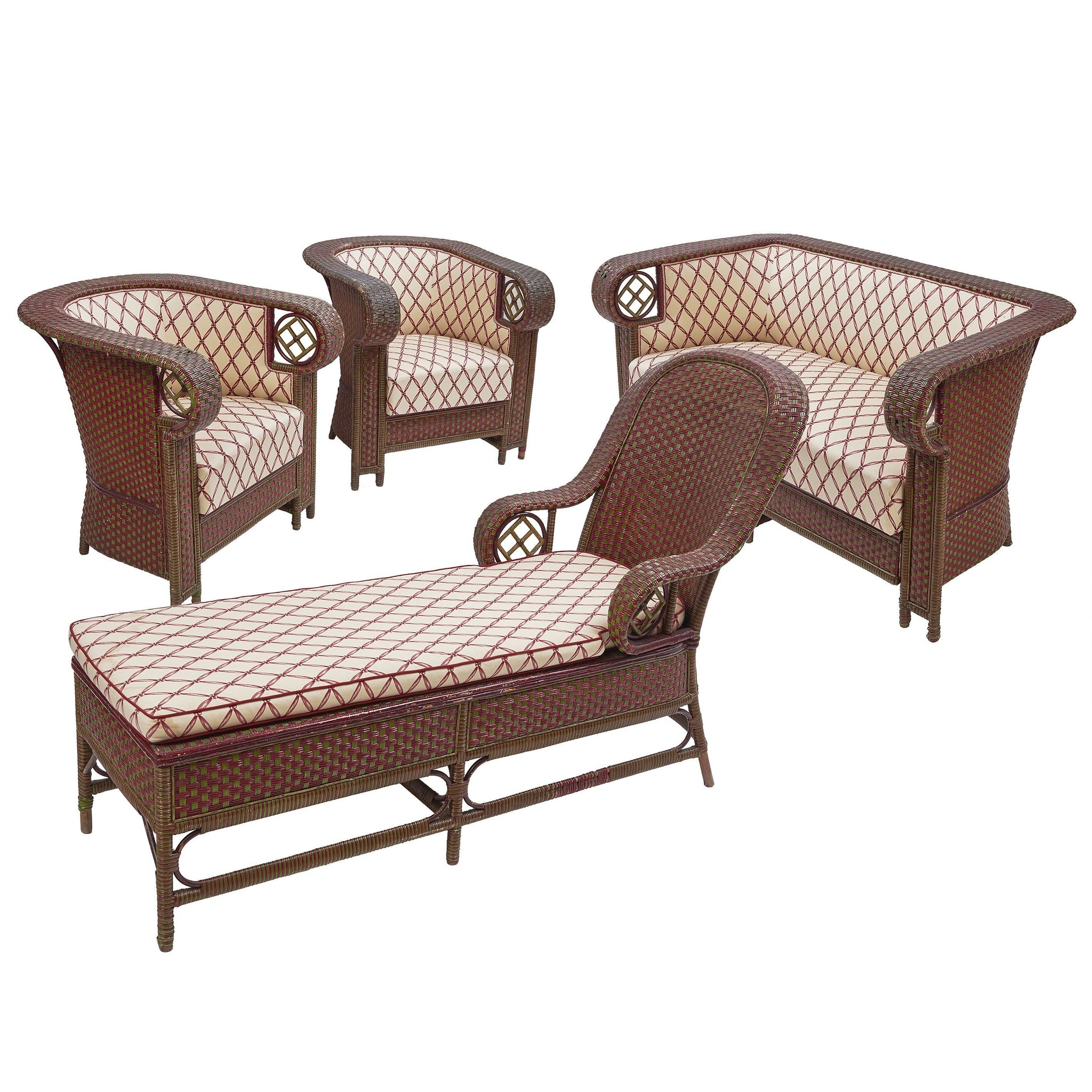 Set of Italian Steamer Furniture