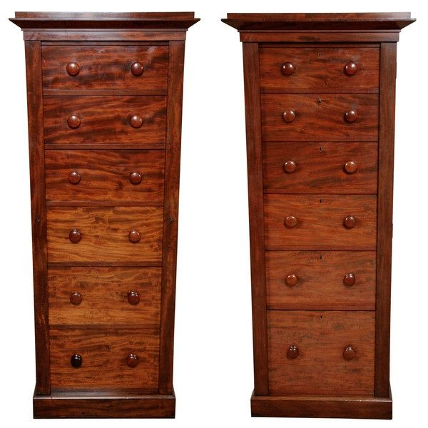 Pair of Tall Dressing Chests