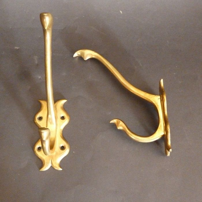Pair of Art Nouveau Double Hooks (938)