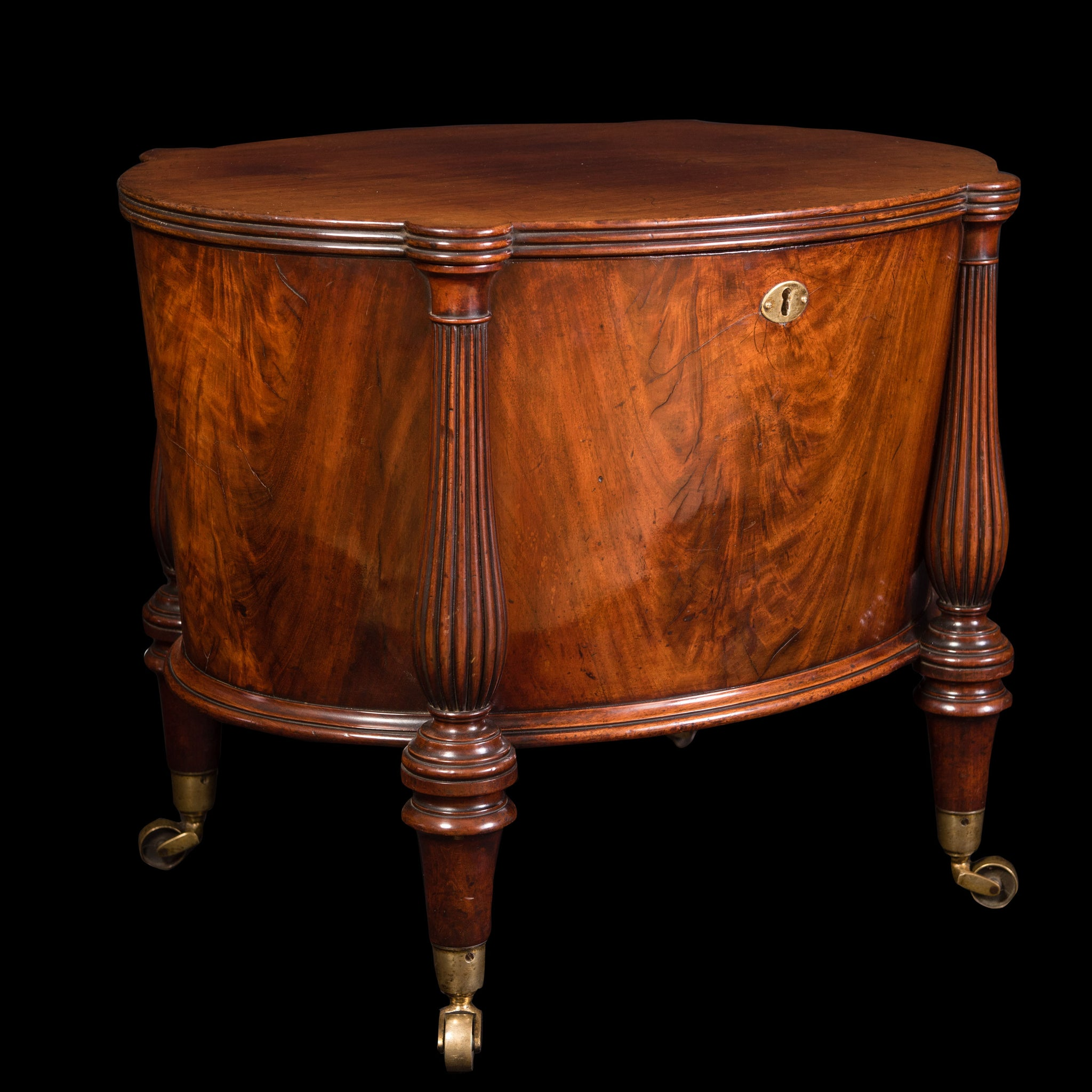 George III Oval Cellarette