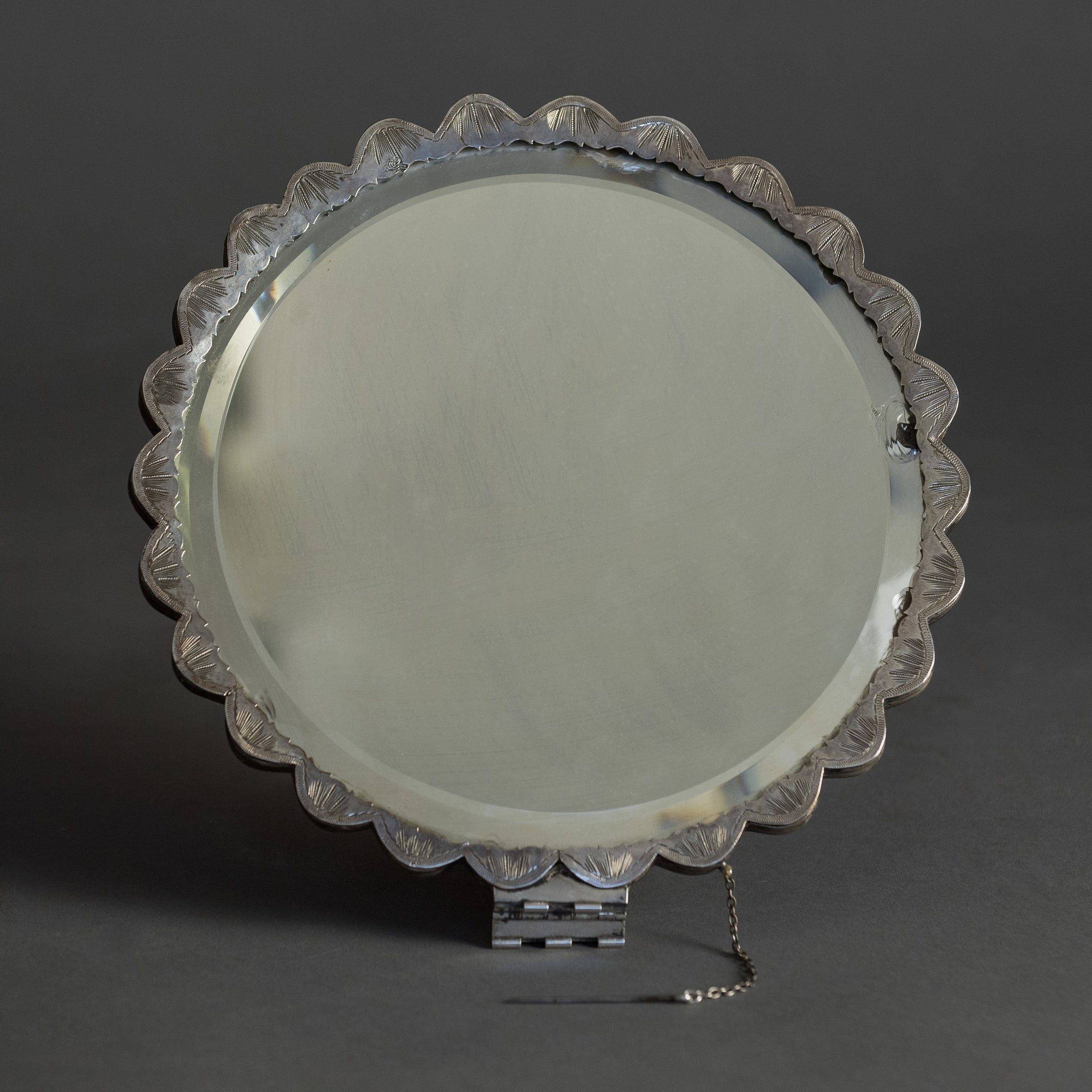 Ottoman Turkish Silver Mirror