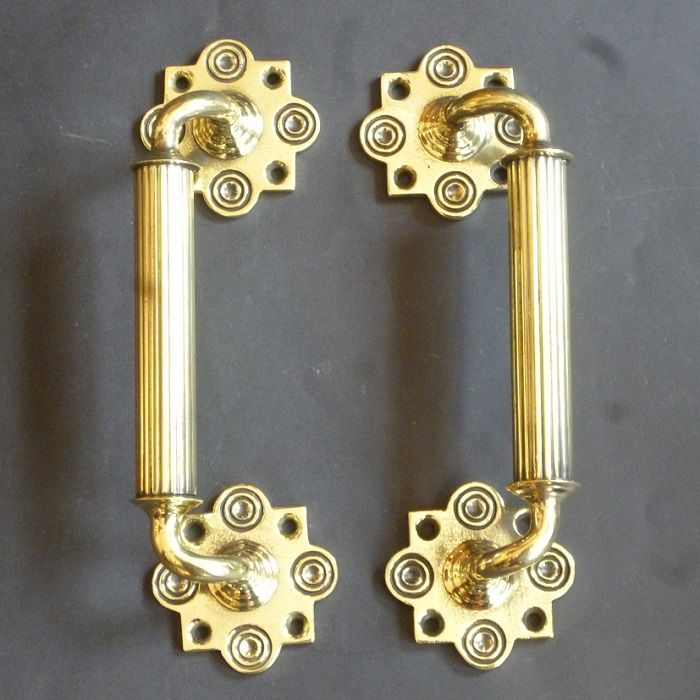 Pair of Victorian Door Pulls (6150)