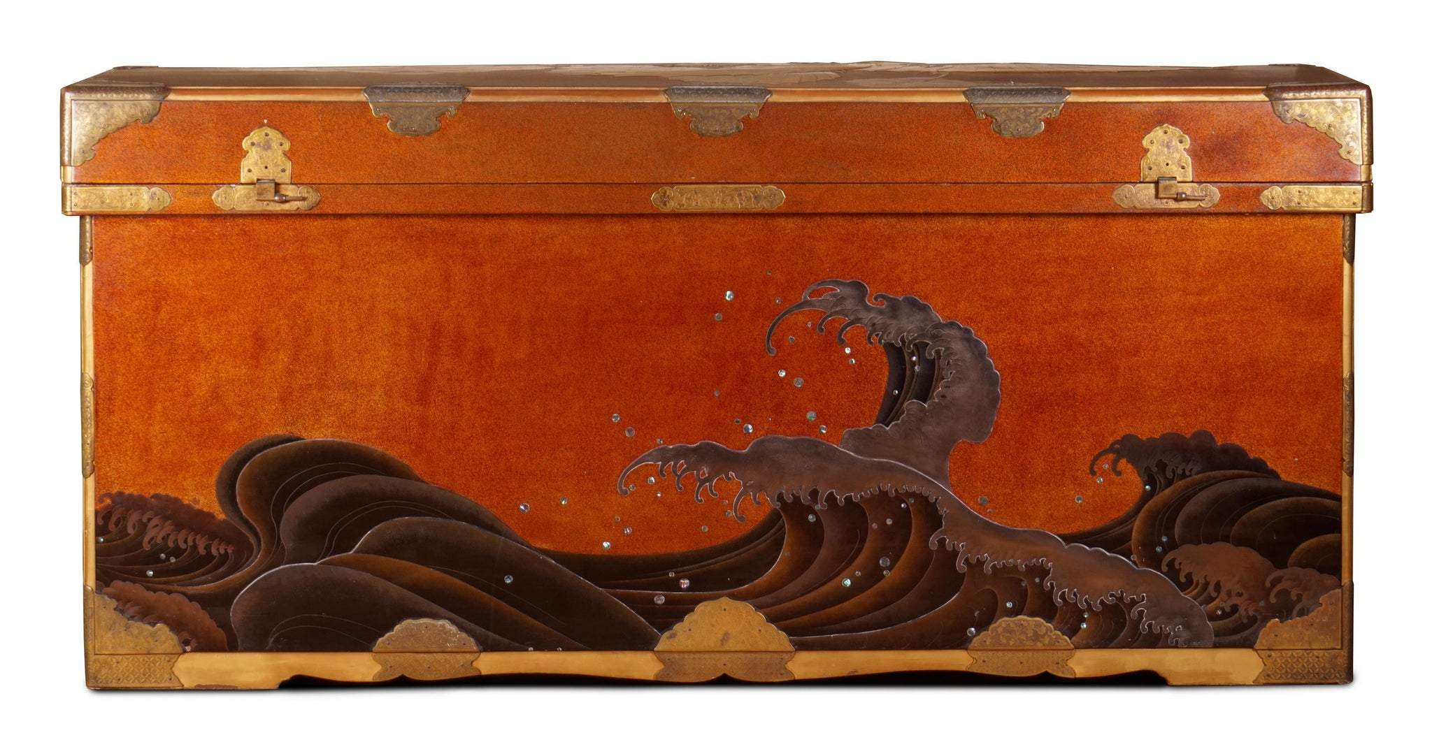 The Great Wave Processional Trunk, late Edo Period