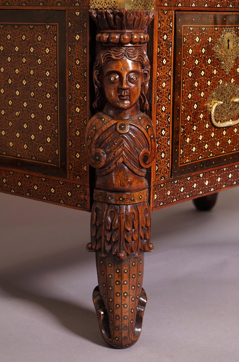 A 17th Century Indo-Portuguese Cabinet On Stand