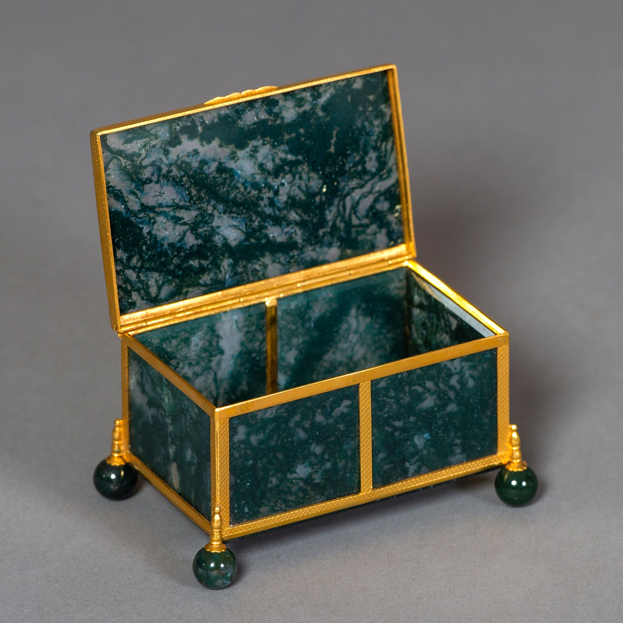 Collection of Austro-Hungarian Agate Caskets
