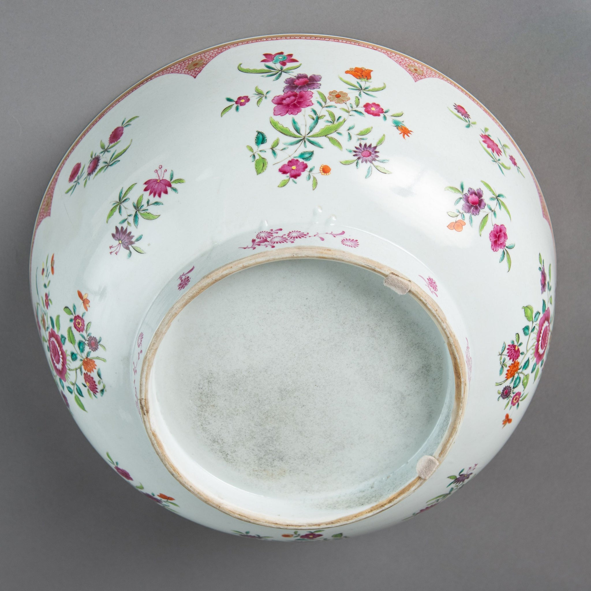 Substantial Famille Rose Bowl with Footed Rim